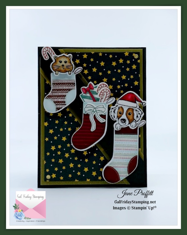 Such an adorable, quick and easy card using Sweet Little Stockings.