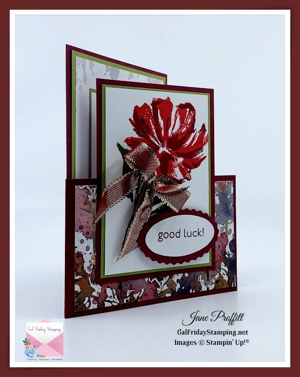 Art Gallery Photopolymer stamp set in merry merlot.