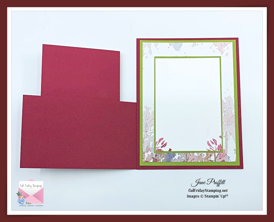 I did not forget the inside of my Art Gallery photopolymer stamp set card.
