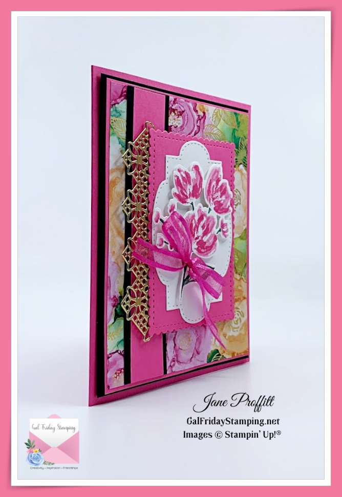 Card created with the Art Gallery Stamp Set from Stampin' Up!