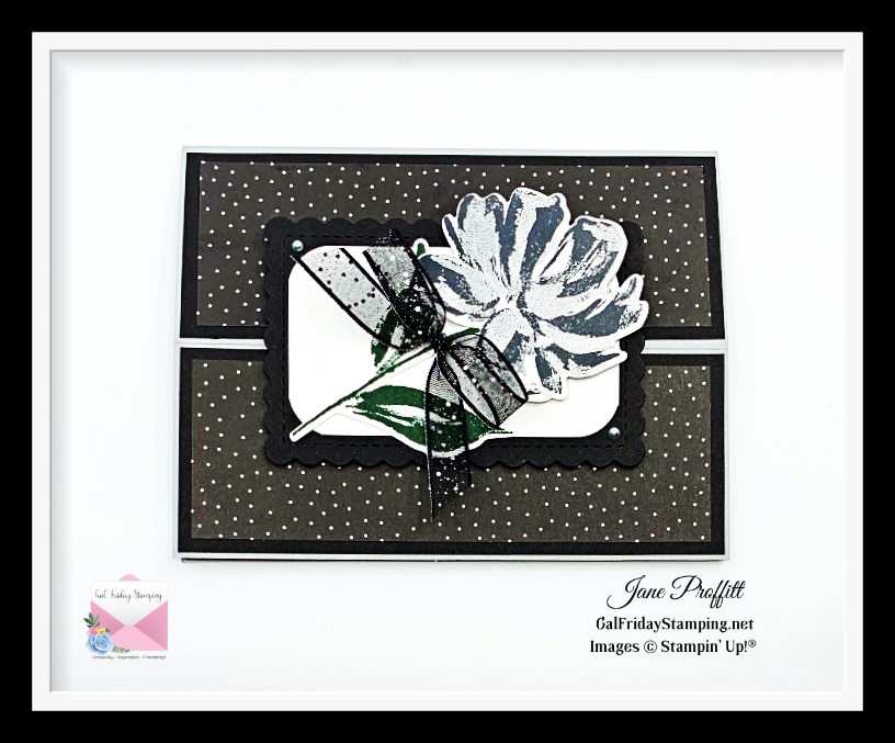 Art Gallery stamp set in black and silver.