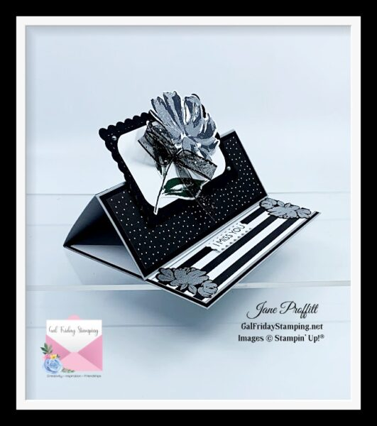 Art Gallery Stamp Set in Black and Silver
