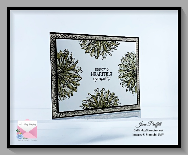 Delicate Dahlias sympathy card which is always a difficult card to create.