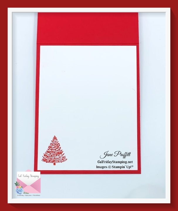 Do not forget the inside of your from fall to snow Christmas card.