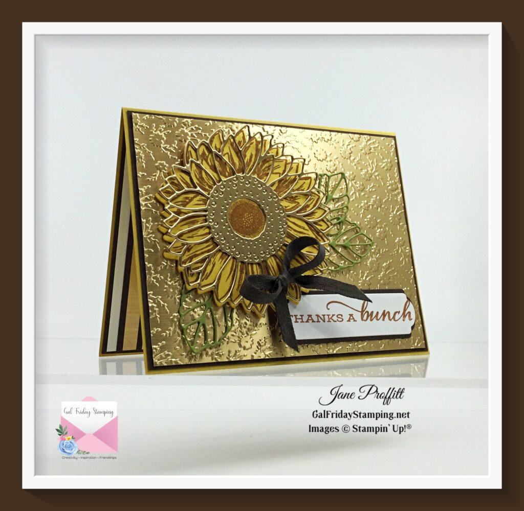 Celebrating Sunflowers weekly showcase in earth tone elegance