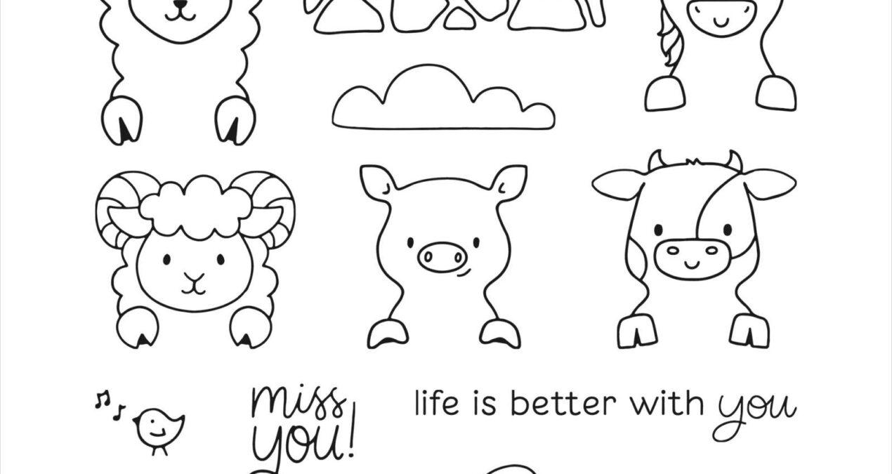 """Piggy in Pink """"Miss You"""" Card"""