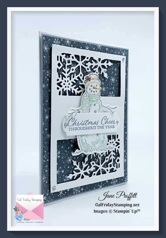 Bringing Christmas Cheer with the Time of Giving Bundle and Peaceful Place designer series paper.