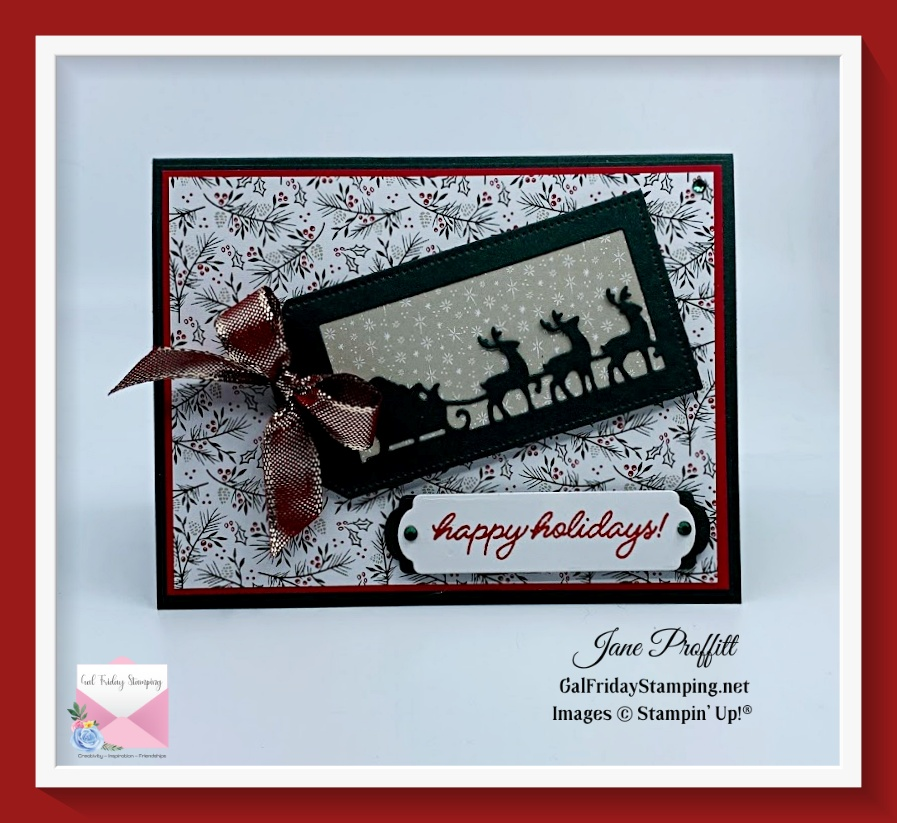 Santa's Sunday Time of Giving card is an adorable way to celebrate the holiday's.