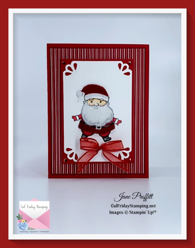 Be Jolly stamp of the month using the Jolly Felt to add texture and dimension to the image.