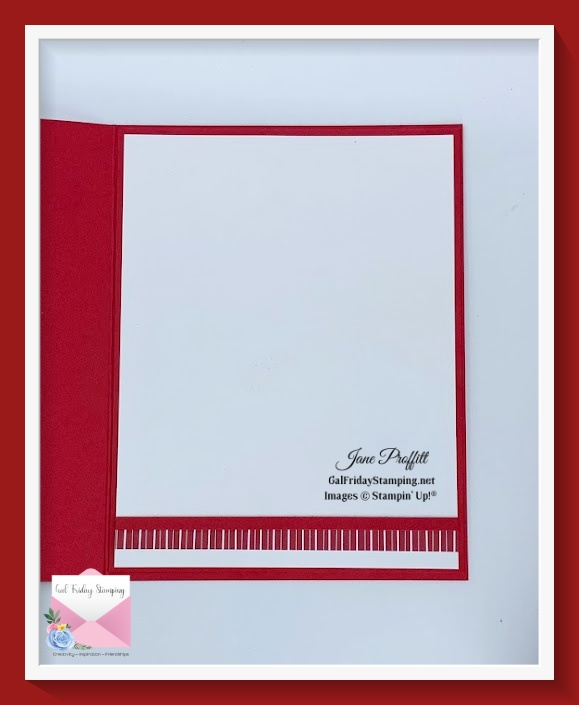 Don't forget the inside of your card.  Add an element from the front of the card.