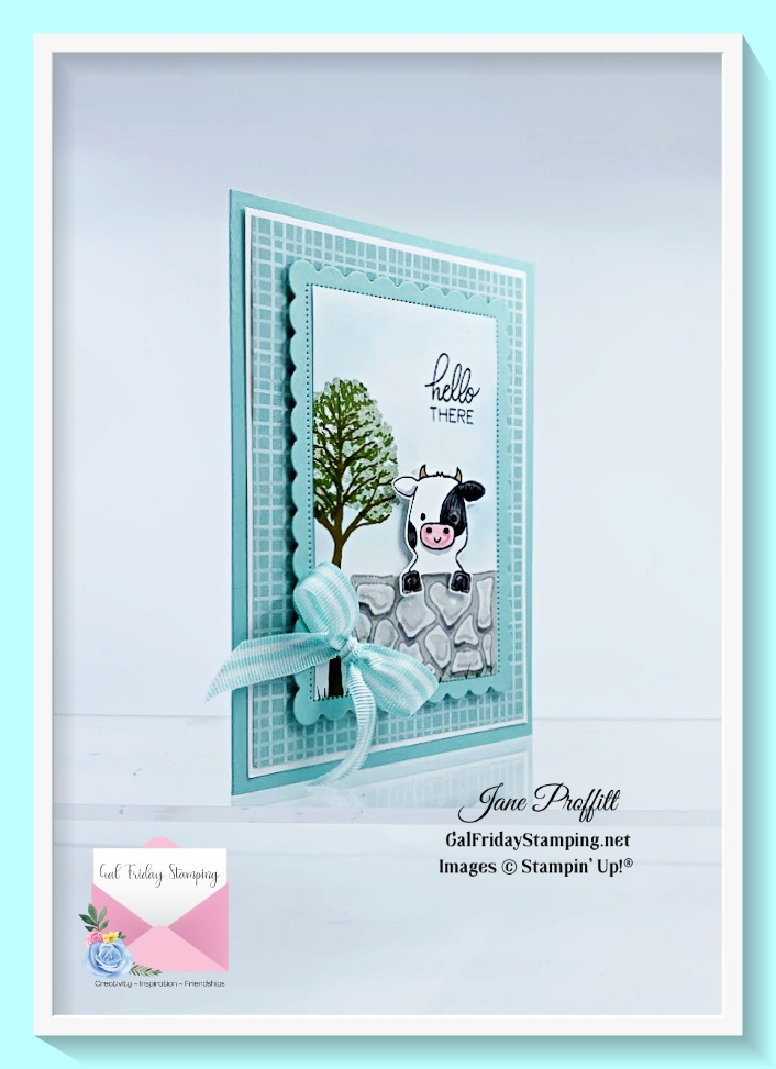 Let's play peek-a-boo is such a sweet card using the Peekaboo farm stamp set.