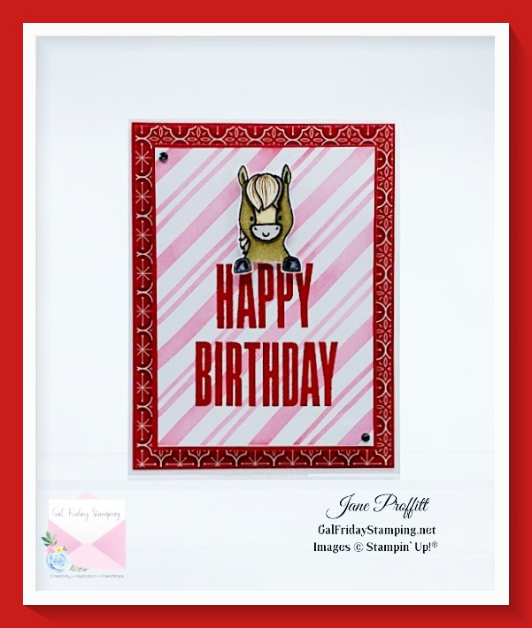 How cute is this card for that December birthday?